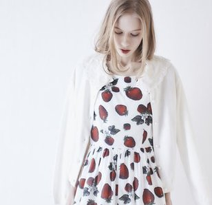 Q-pot. Strawberry Field Sleeveless Dress