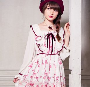 LIZ LISA English Rose Frilly Shoulder Dress