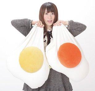 Powder Beads Sunny Side Up Egg Jumbo Plush