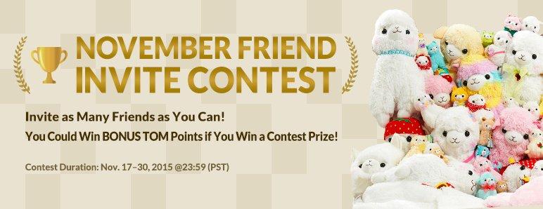 November Invite Contest 2015