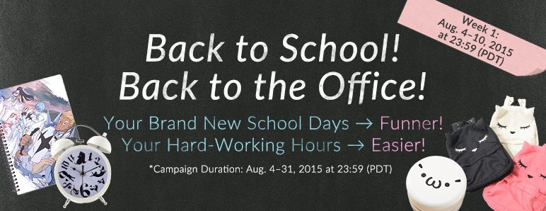 Back to School 2015 Week 1