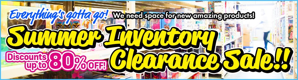 Summer Inventory Clearance Sale! Discounts up to 80% OFF!