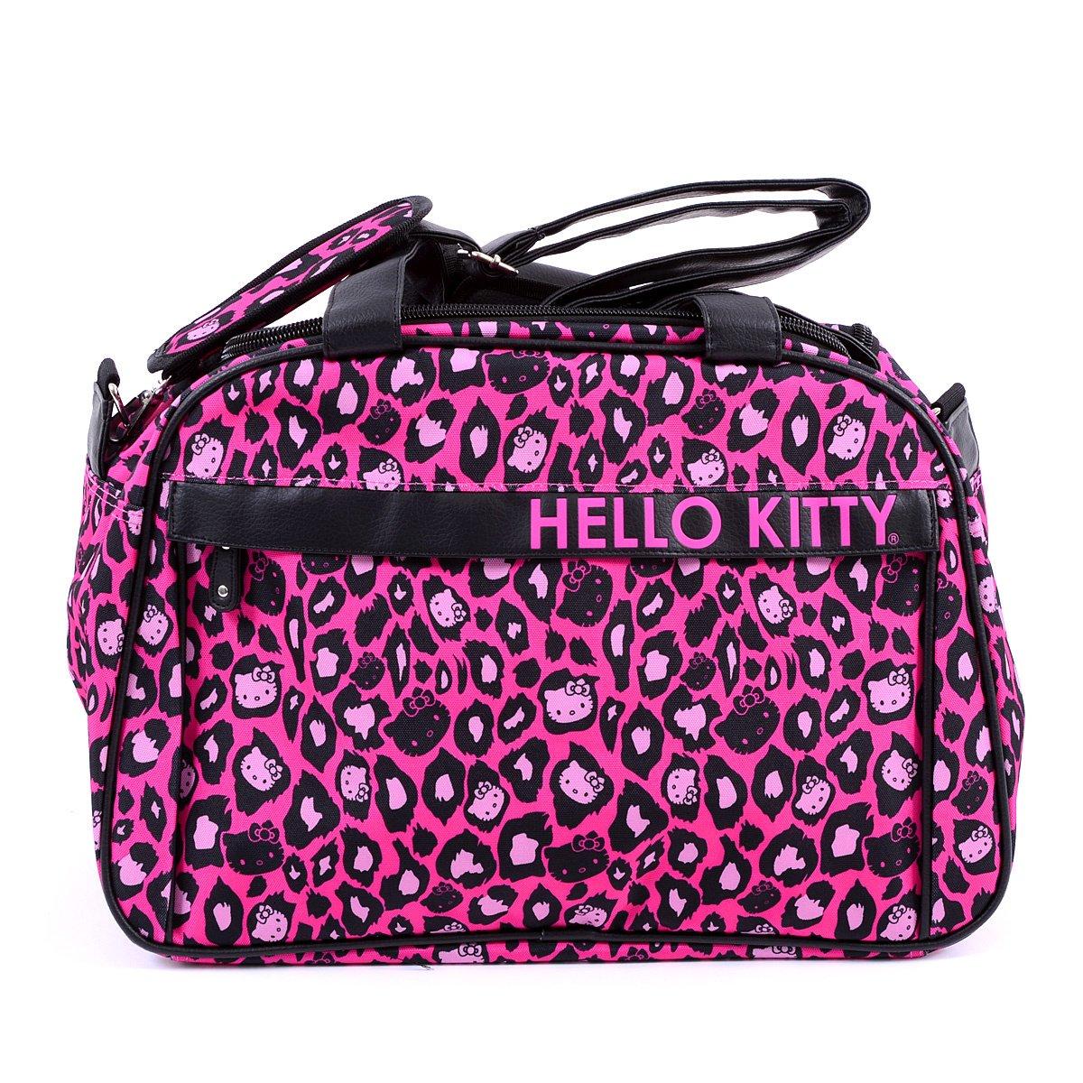 b0b0e6911c Hello Kitty Pink Leopard Print Duffle Bag 6. Next. US 74.99
