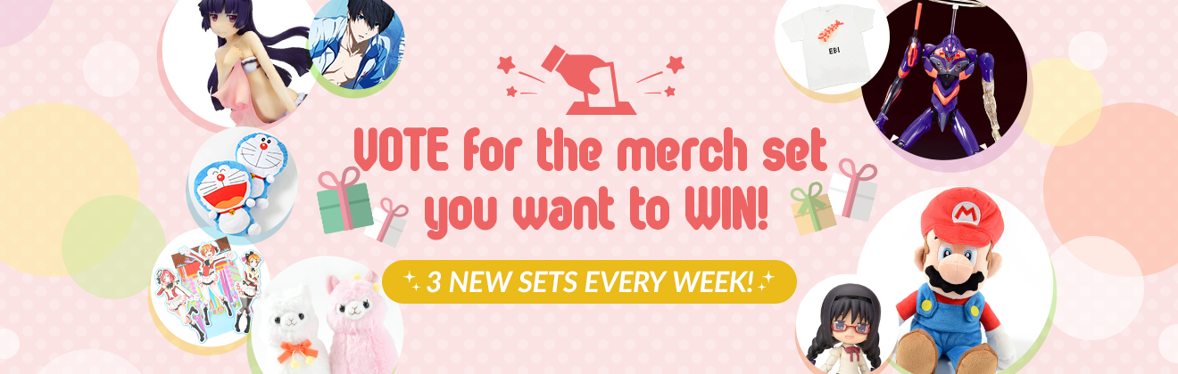 VOTE for the merch set you want to WIN!