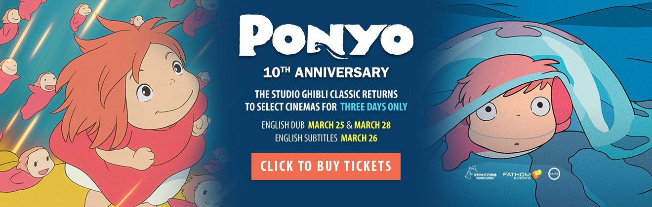 Ghibli Fest 2018 - PONYO Movie Ticket Giveaway