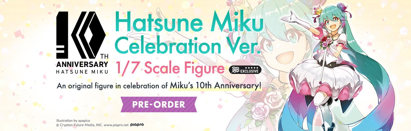 TOM Exclusive Hatsune Miku Celebration Ver.