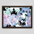 Banshee in a Pastel Gothic World Poster