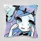Banshee in a Pastel Gothic World Cushion Cover