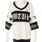 GLAD NEWS Wing Skull Star Big T-Shirt