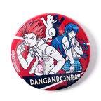 LISTEN FLAVOR Danganronpa Leon Kuwata x Sayaka Maizono Badge