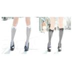 ERIMAKI SOX Stripe Bias High Socks