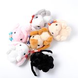 Pote Usa Loppy Ribbon Rabbit Ball Chain Plush Collection