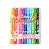 Rilakkuma Play Color 2 Double-Ended Color Pen Set (12 Colors)
