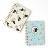 Kutusita Nyanko English Garden Spiral Notebooks