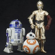 ArtFX+ Star Wars R2-D2 and C-3PO w/ BB-8 1/10 Scale Figure Set