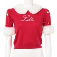 Swankiss Lolita Fluffy Collar Knit Shirt