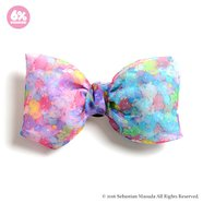 6%DOKIDOKI Colorful Rebellion Pastel Organdy Ribbon Clip & Brooch