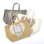 Accommode Heart Canvas Tote Bags
