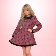 Swankiss Heart Checkered Dresses