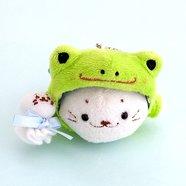 Sirotan Frog Poncho Keychain Plush