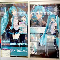 This shop's entrance was also decorated with nothing but Miku!