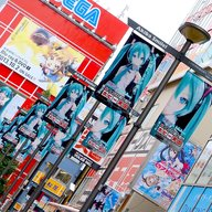 The spectacle immediately outside Akihabara train station. Hatsune Miku was throughout the whole town!