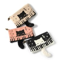 Piano & Pooh-chan Flat Pouch