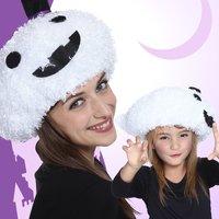 Halloween Ghost Fuzzy Hat