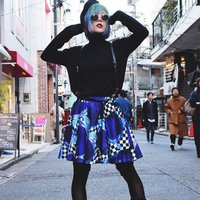 ACDC RAG Checkered Apple Flared Skirt