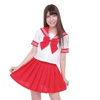 Color Sailor - Sailor Suit Cosplay Outfit (Red)