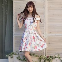 LIZ LISA Vintage Flower Pattern Dress