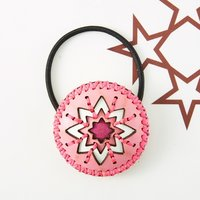 OJAGADESIGN Candy Collection Pink Phoenix Hair Tie