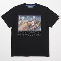 Eureka Seven x Ungreeper Renton & Eureka Black T-Shirt