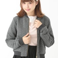 earth music&ecology Heart Quilted Zipped Blouson