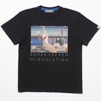 Eureka Seven x Ungreeper Anemone & Dominic Black T-Shirt