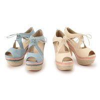 LIZ LISA Colorful Jute Sandals