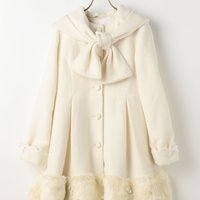 LIZ LISA Fur Ribbon Coat