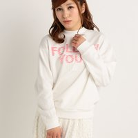 LIZ LISA Fringed Logo Sweater