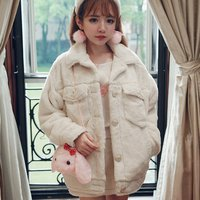 Bobon21 Faux Fur Oversized Coat