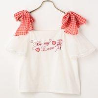 LIZ LISA Gingham Ribbon T-Shirt