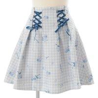 LIZ LISA Houndstooth Floral Skirt
