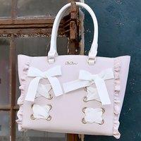 LIZ LISA Lace-Up Ribbon Tote Bag