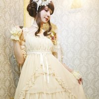 Atelier Pierrot Sharred Chiffon Dress