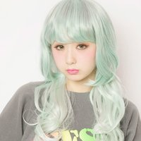 LLL Princess Wave Long Mint Cigarette Wig