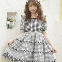 LIZ LISA Gingham Ribbon Dress