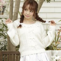 LIZ LISA Lace Collar Knit Top