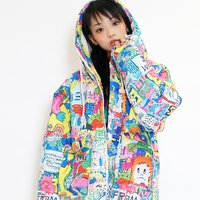 galaxxxy 8words Wall Paint Blouson Jacket