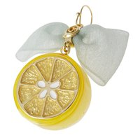 Q-pot. Lemon Ribbon Pierced Earring