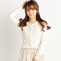 LIZ LISA Sleeve Ribbon Cardigan