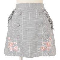 LIZ LISA Plaid Trapezoid Skirt
